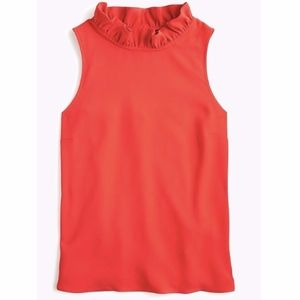 J. Crew Ruffle-Neck Top in 365 Crepe (Size L)